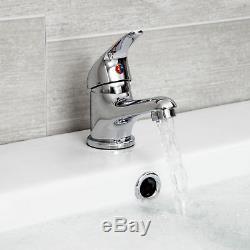 Cheap Bathroom Suite 1700 Straight Bath Toilet WC Basin Sink Tap Shower Mixer