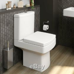 Close Coupled Toilet and Basin Sink Set Bathroom Modern Cloakroom Ceramic Suite