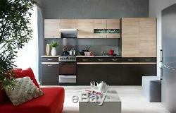 Complete Kitchen Set 7 Cabinets Cupboards Units Wenge Sonoma Oak Junona 240cm