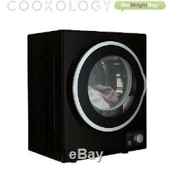Cookology CMVD25BK Black Mini Table Top Vented Tumble Dryer 2.5kg Portable