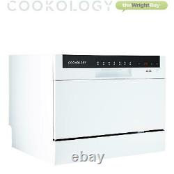 Cookology CTTD6WH Freestanding Compact Table Top Dishwasher, 6 place settings
