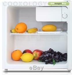 Cookology White Table Top Mini Fridge & Ice Box Freezer 46L Beer & Drinks Cooler