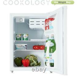 Cookology White Tabletop Mini Fridge & Ice Box Freezer 67L Beer & Drinks Cooler