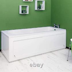 Croydex Unfold'N' Fit White Front Side Bath Panel 1680mm & Lockable Storage