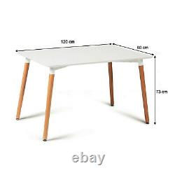 Dining Table and Chairs 4 6 Set Wooden legs Retro dining Room Chair Grey Kitchen