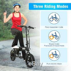 E-Bike Folding Electric Bike Moped Bicycle City Bike 250W Power 14 Wheel 25km/h