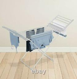 Electric Clothes Airer Dryer Indoor Horse Rack Laundry Folding Washing Dry