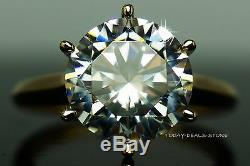 Engagement Ring 3.00 Ct Vvs/d Round Cut Solitaire 14k White Gold Wedding Promise