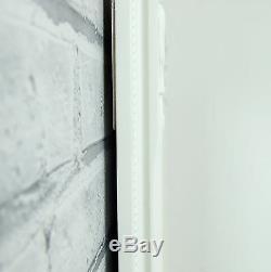 Eton Full Length shabby chic Extra Large FLOOR White Leaner Wall Mirror 62x27