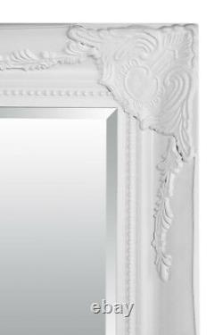 Extra Large Wall Mirror White Antique Vintage Full Length 5Ft7x2Ft7 170 X 79cm