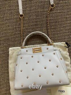 Fendi Peekaboo XS womens handbag White brand new 100% Genuine