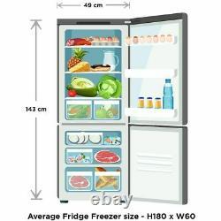 Fridgemaster MC50165 A+ F 50cm Free Standing Fridge Freezer 60/40 Standard