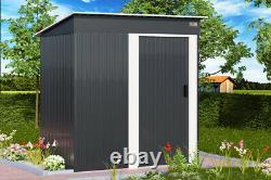 Gardebruk Metal Garden Shed Storage Tool Organiser Box Container 181x162x86cm