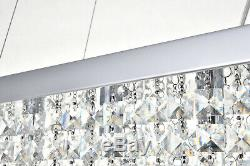 Genuine Crystal&Glass Rectangular 5 Lights Ceiling Lamp Pendant Chandelier Light