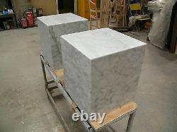 Genuine Marble cubes 35x35x40cm ht, white, beige, black or grey, UK made