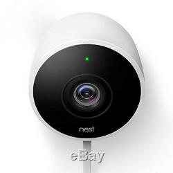 Google Nest Outdoor Security Camera, White with 2 Pack Wifi Smart Plug