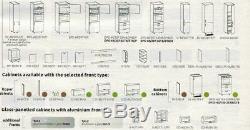 Grey gloss kitchen units set, complete kitchen, high quality grey gloss kitchen