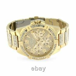 Guess Frontier Crystal Gold Mens Watch W0799G2 brand new in box