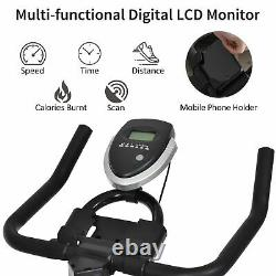 HOMCOM Exercise Training Bike Indoor Cycling Bicycle Trainer LCD Monitor