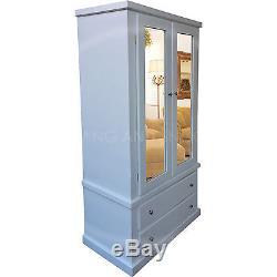 Hand Made Dewsbury Furniture Double Mirrored Wardrobe White (assembled)
