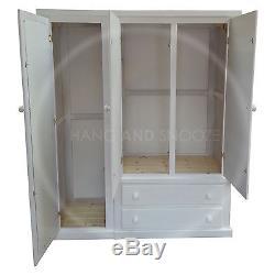 Hand Made Dewsbury Furniture Triple Full Mirrored Wardrobe White (assembled)