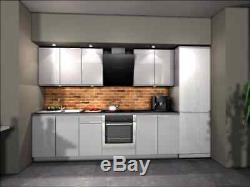 Handleless kitchen units set, complete kitchen, high quality white gloss kitchen