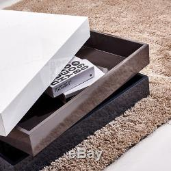 High Gloss White Coffee Table Modern Design Nest Of Table Living Room Furniture