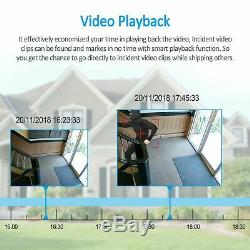 Home Security System Wireless 4CH IP Camera CCTV 1080P 1TB HDD Outdoor 7LCD Kit