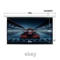 Homegear 100in 169 HD/3D Electric Motorised Projector Screen And Remote Control