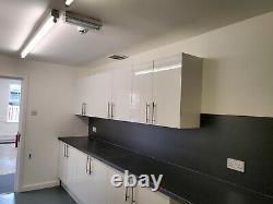 Howdens complete kitchen units with worktops and Sink unit. Brand new