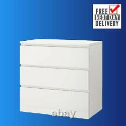 IKEA kullen Chest of 3 drawers White 70 x 72 cm