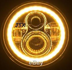 JTX LED WHITE Halo Headlights AMBER for Toyota Landcruiser HZJ75 75 78 79 series