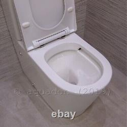 Jesy Bathroom Rimless Toilet WC Ceramic Close Coupled Cloaked to Wall