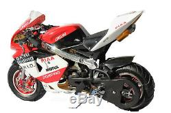 KXD Mini Moto Pocket Bike 50cc Limited Edition Red/White/Black