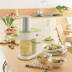 Kenwood 0.5L Spiralizer Food Slicer 70W White Electric Fruit Vegetable Spaghetti
