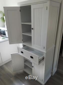Kitchen Dresser Cabinet Tall Pantry Furniture Large Storage Unit Cupboard Larder