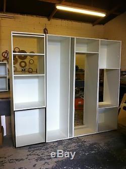 Kitchen Units RIGID BUILT NOT FLAT PACK White Handleless gloss Doors Brand New