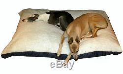 KosiPet Extra Large Budget Economy Fibre Cushion White Sherpa Dog Bed, Beds