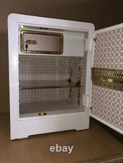 Large 60 litre 2 lock steel safe Modern White 47kg Brand New
