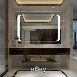 Large Led Illuminated Modern Bathroom Mirror With Demister / Ir Sensor / Light
