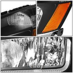 Led Drlfor 2003-2007 Honda Accord Black Housing Amber Side Headlight/lamp Set