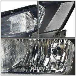 Led Drlfor 2003-2007 Honda Accord Smoked Housing Clear Side Headlight/lamp Set