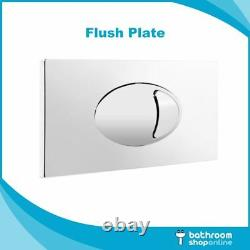Linton Back to Wall BTW Toilet WC Pan, Soft Close Seat, Cistern & Flush Plate