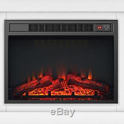 Luxury 1.8KW Electric Fireplace Suite LED Log Fire Burning Flame + MDF Surround