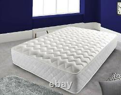 Luxury Coolblue Quilted Memory Foam Matress 4ft6 DOUBLE 5ft King Mattress