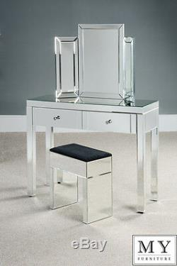 Luxury Mirrored Dressing Console / Table 4 Legs