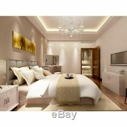 Luxury White Corner Dressing Table Multi-angle Mirror Stool 5 Storage Drawer