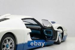 MASERATI MC12 ROAD CAR PEARL WHITE & BLUE 118 by AUTOART 75801 BRAND NEW