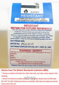 MCC Wooden Baby Cot Bed Orlando & Water repellent Mattress