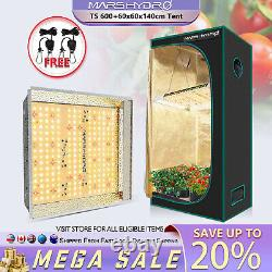 Mars Hydro TS 600W Led Grow Light Veg Flower Plant +2'x2' Indoor Grow Tent Kit